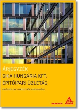 2014. Építőipari Üzletág Árjegyzéke