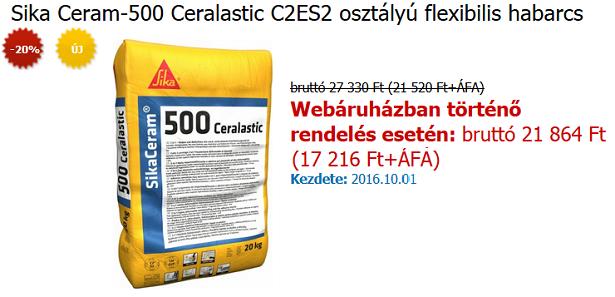 SikaCeram-500 Ceralastic - A Hónap Terméke (2016. október)